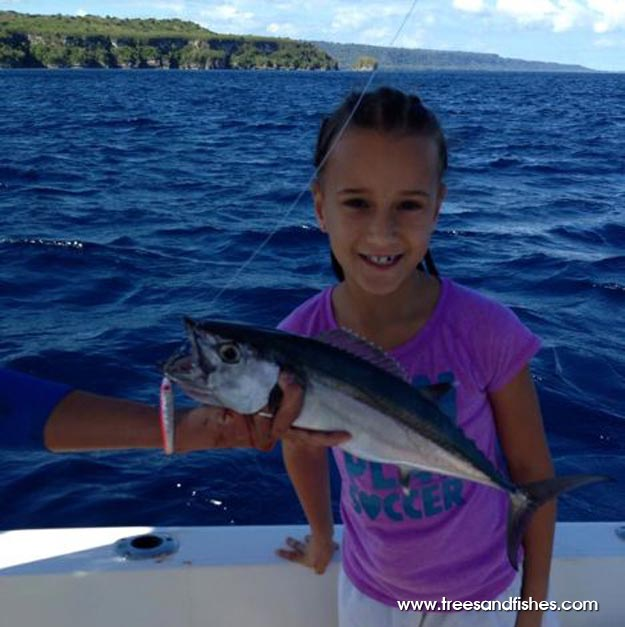 Here's her catch during the Vanuatu fishing with Ocean Blue team