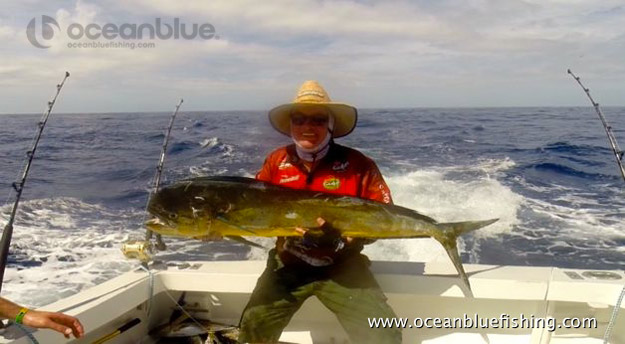 David Whitley's mahi mahi fishing