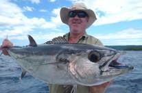 Fishing white tuna in Vanuatu
