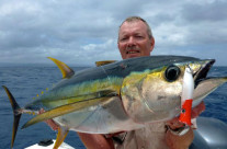 fishing at Vanuatu is really exciting especially if you catch a big yellowfin tuna