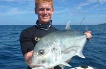 Thomas caught this GT fish in Vanuatu