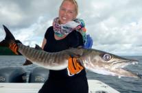 Helen loves her second time fishing in Vanuatu