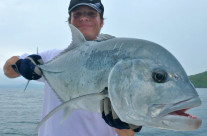 caught gt fish by Oceanblue Crew and our visitors