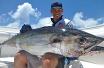 Me and my friends really love posing with this dogtooth tuna.