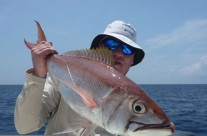 red bass fishing