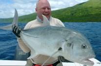 vanuatu giant trevally fishing