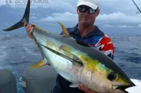 Sean Tieck crew yellowfin fishing