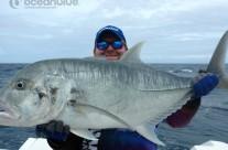 Sean Tieck crew big GT fish