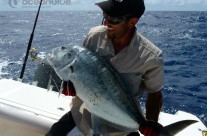 Sean Tieck crew GT fishing in Vanuatu