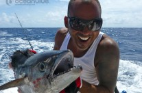 Sean Tieck crew happy fishing