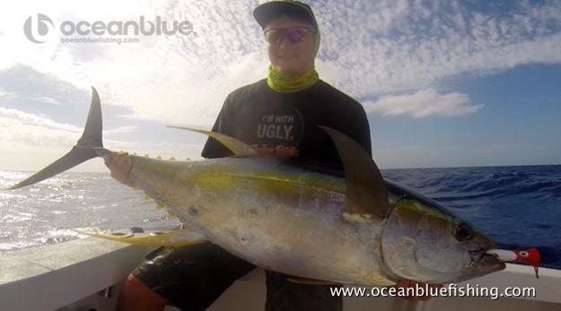 David Whitley's yellowfin fishing