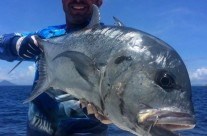 angler caught huge GT Fish